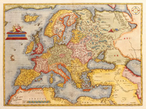 Europae 1584-1612 by Abraham Ortelius