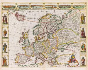 Nova Europae Descriptio 1680 by Frederick de Wit