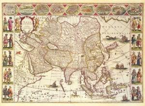 Asia 1618 by Willem Janszoon Blaeu