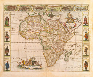 Nova Africa Descriptio 1670 by Frederick de Wit