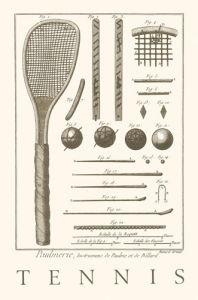 Tennis Racquet (Serigraph) by Direxit