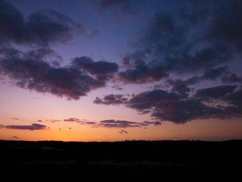 Sunrise above horizon,Chobham Common, UK by Assaf Frank