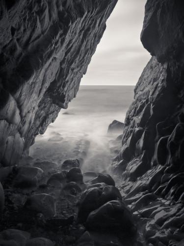 Sea Cave, Cornwall coast line, Duckpool beach by Assaf Frank