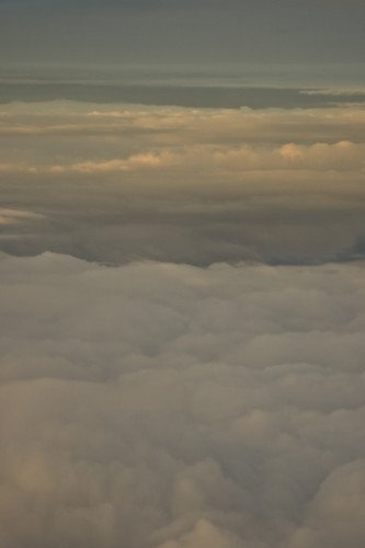 Clouds at dusk, aerial view by Assaf Frank