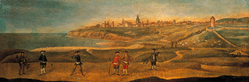 A View of Military Players at St. Andrew's in the Late Seventeenth Century by Anonymous