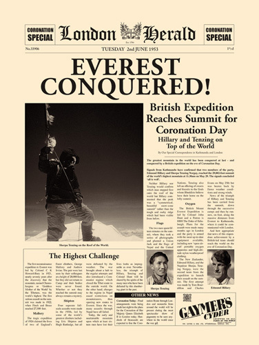 Everest Conquered by London Herald