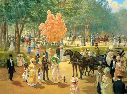 Balloon Seller by Alan Maley