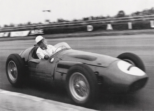Stirling Moss, Maserati 250 F, 1956 by Alan Smith