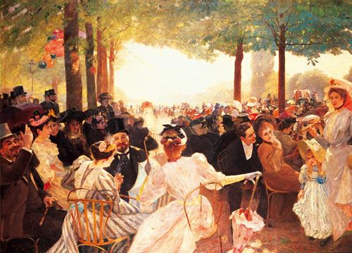 Avenue du Bois de Boulogne by Albert Marie Dagnaux