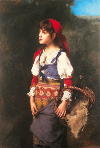 Country Girl by Alexei Alexeiewitsch Harlamoff
