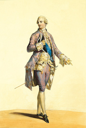 Costume Louis XVI by Andre Deveria