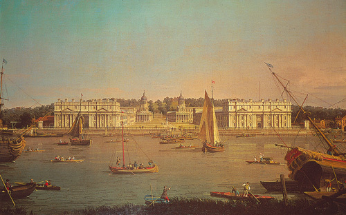 Greenwich from the Isle of Dogs by Giovanni Canaletto