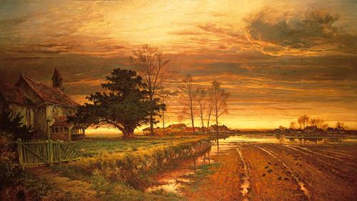 Burnished Sky by Benjamin Williams Leader