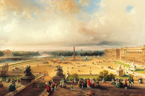 La Place de la Concorde, Paris by Carlo Bossoli