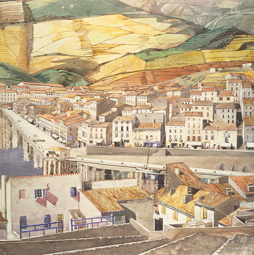Port Vendres, La Ville by Charles Rennie Mackintosh