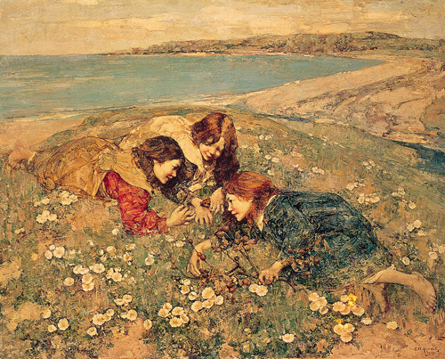 Captive Butterfly by Edward Atkinson Hornel