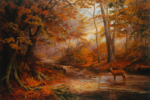 Woodland Stream by Elizabeth Halstead