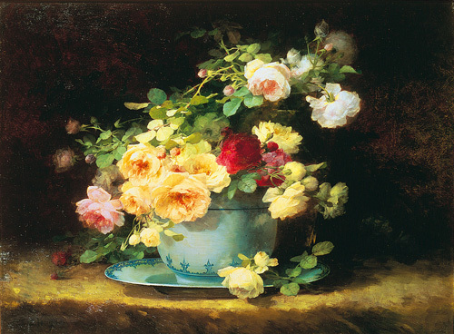 Roses in a Porcelain Bowl by Emilie Vouga