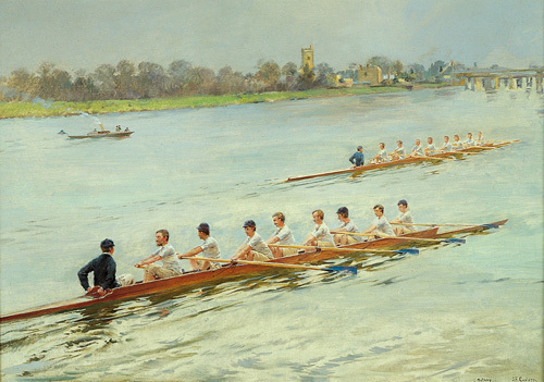 Eights Racing at Putney by Ferdinand Gueldry