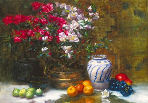 Still Life with Azaleas by Frank Janca