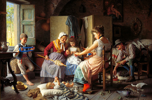 A Happy Family by Giovanni Battista Torriglia