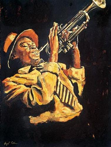 Trumpet Player by Hazel Soan