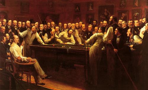 The Billiard Room by Henry O'Neil
