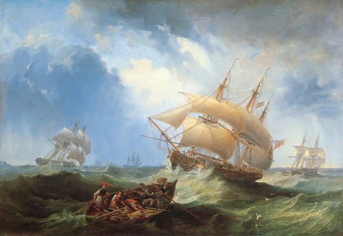 Shipping in the Open Sea by James Wilson Carmichael