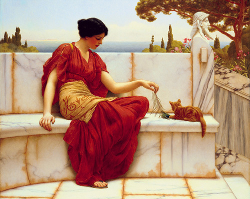Time to Play by John William Godward