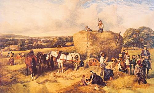 Haymaking by John James Wilson
