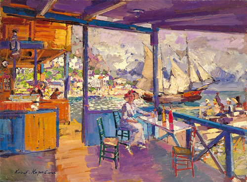 Terrace on a Sea Shore by Konstantin Alexeievitch Korovin