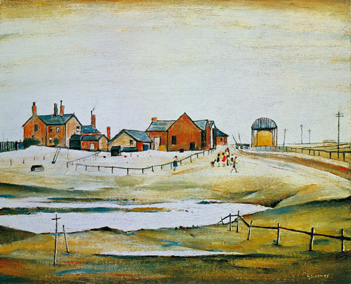 Landscape With Farm Buildings by L S Lowry