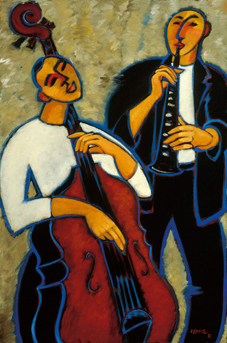 Bass and Clarinet by Marsha Hammel
