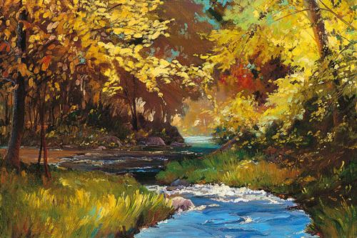 Winding Stream by Martha Saudek