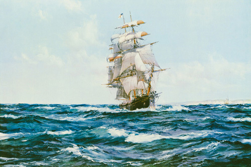 Up Channel - The 'Lahloo' by Montague Dawson