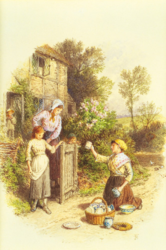 The Crockery Seller by Myles Birket Foster