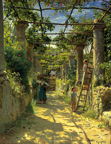 Pergola Harvest by Peder Monsted