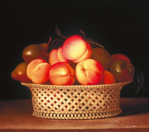 Bowl of Peaches by Raphaelle Peale