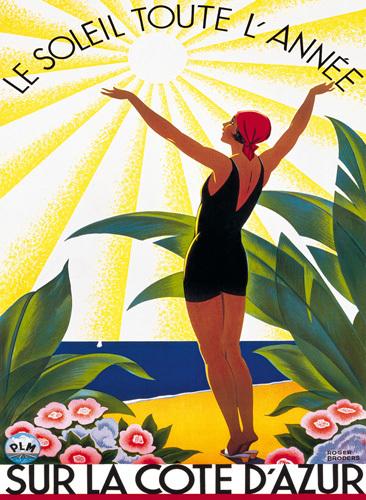 Sur la Cote d'Azur, Le Soleil Toute... by Roger Broders