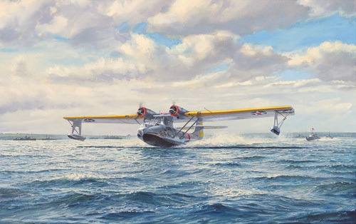 Catalina Take-Off by Roy Cross