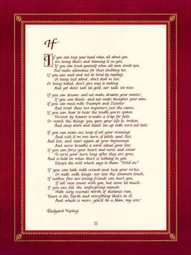 if by rudyard kipling essay if by rudyard kipling