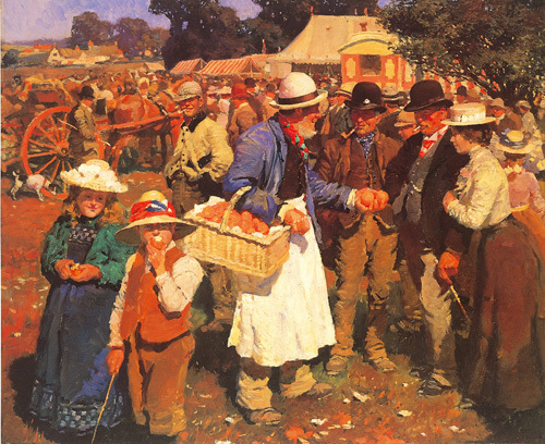 Gala Day by Sir Alfred Munnings