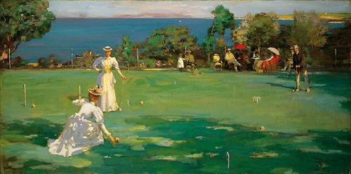 The Croquet Match by Sir John Everett Lavery