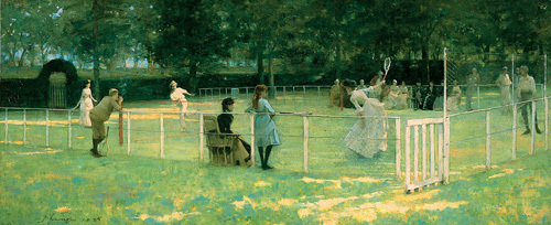 The Tennis Party by Sir John Everett Lavery
