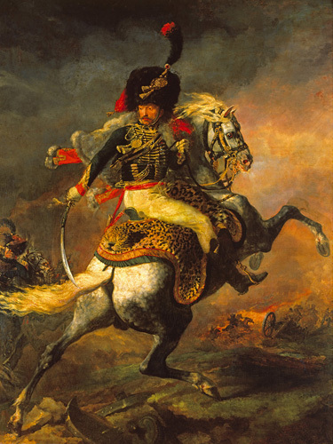 Officer of the Hussars 1814 by Jean-Louis-André-Théodore Géricault