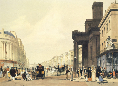 Regent Street Looking towards The Quadrant by Thomas Shotter Boys
