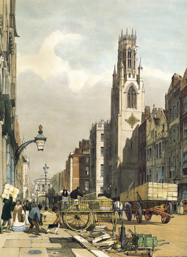 St. Dunstan's, Fleet Street by Thomas Shotter Boys