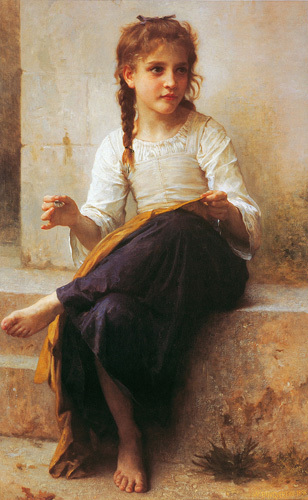 The Young Seamstress by Adolphe William Bouguereau