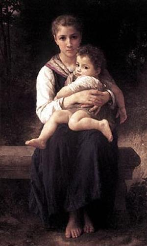 Two Sisters by Adolphe William Bouguereau