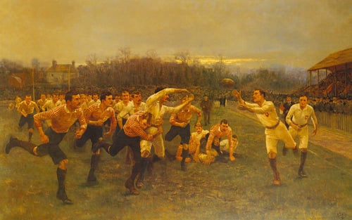 The Rugby Match by William Barnes Wollen